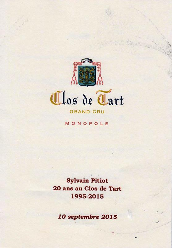 dîner Clos de Tart 150910 001