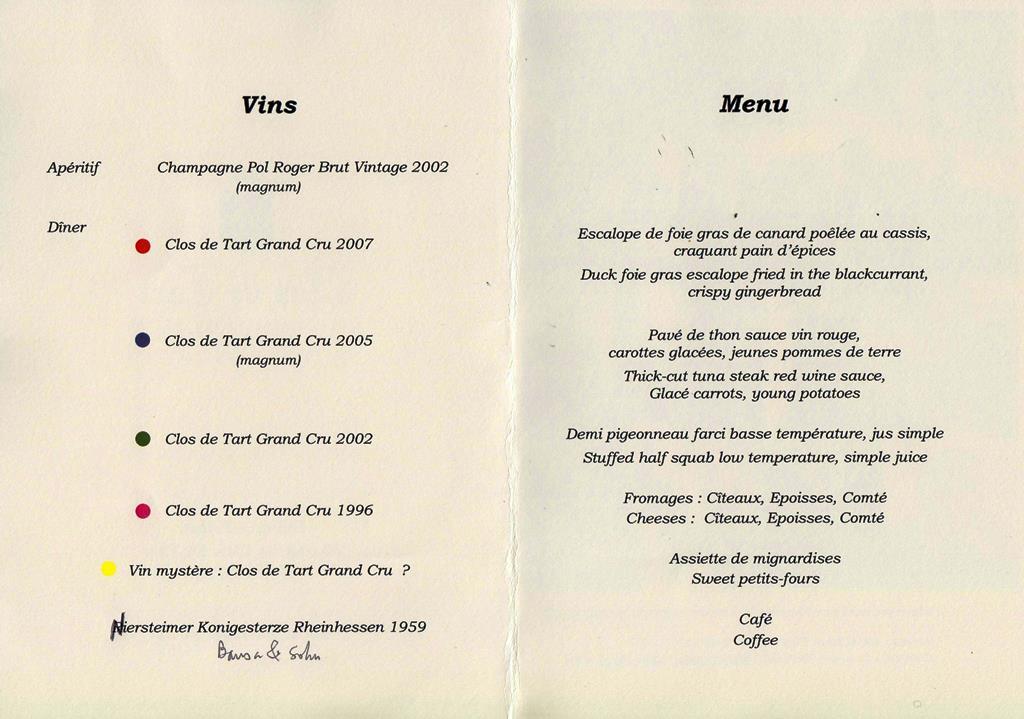 dîner Clos de Tart 150910 003