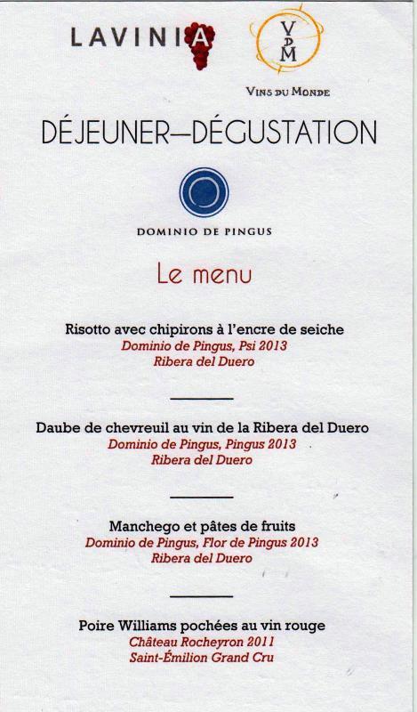 menu Lavinia 001