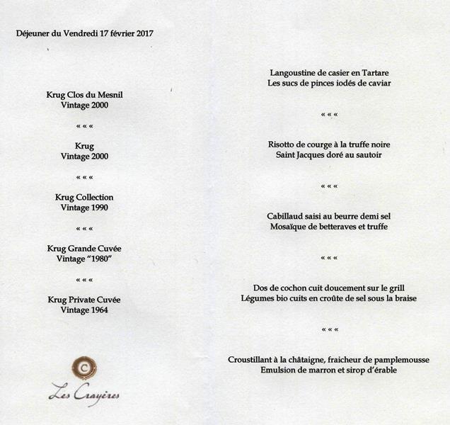Les Cray Ef Bf Bdres Restaurant Menu